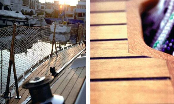 Holzelemente für Boote