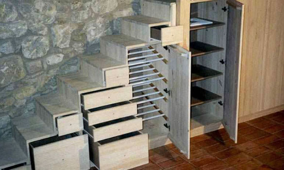 Treppe Mit Integriertem Kleiderschrank Creative Woodworks
