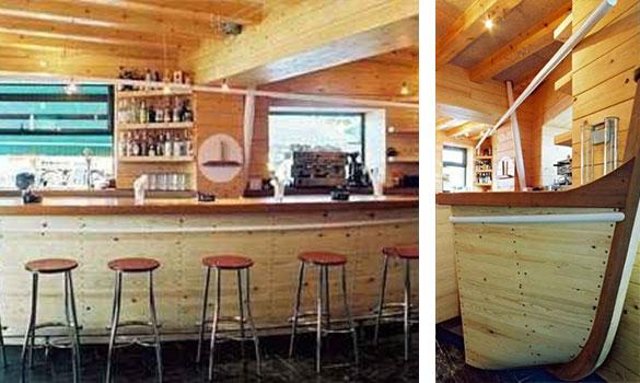Barras de bar de madera