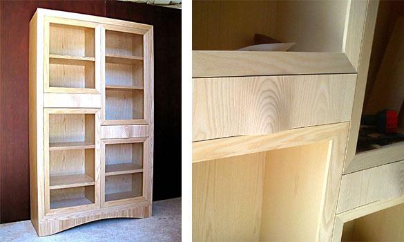Mueble librería en fresno