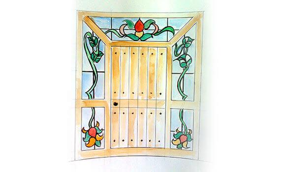 Marco de la puerta interesting e calza el marco con las for Marco puerta friends
