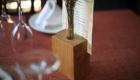 El florero Ikebana sirve para sujetar el menú