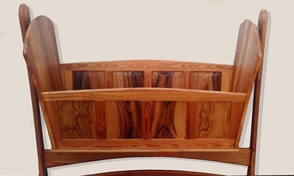 Wood rocking cradle